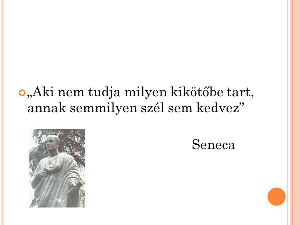 """""""Aki nem tudja milyen kikötőbe tart, annak semmilyen szél sem kedvez Seneca"""