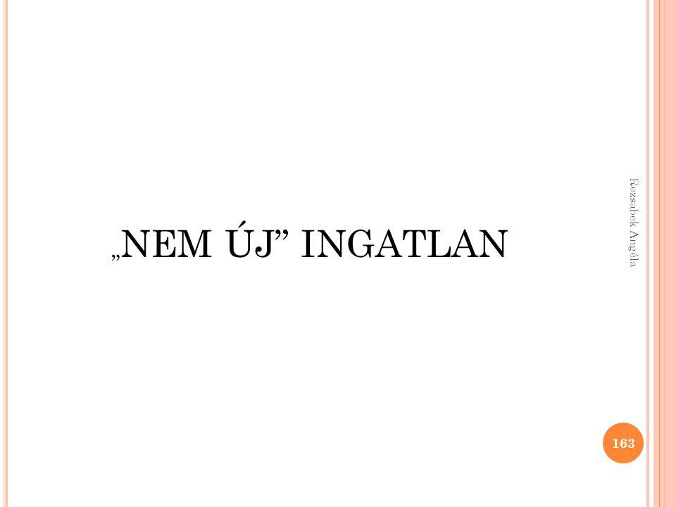 """"""" NEM ÚJ"""" INGATLAN 163 Rezsabek Angéla"""