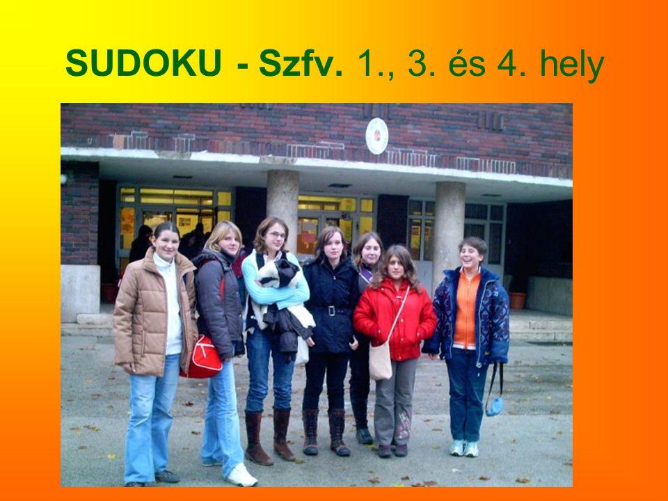 SUDOKU - Szfv. 1., 3. és 4. hely