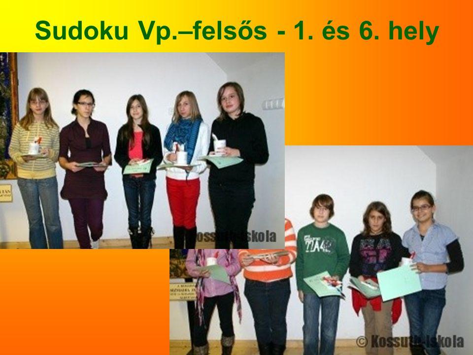 Sudoku Vp.–felsős - 1. és 6. hely