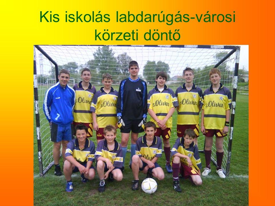 Kis iskolás labdarúgás-városi körzeti döntő