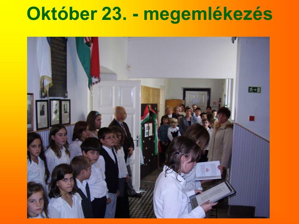 Október 23. - megemlékezés