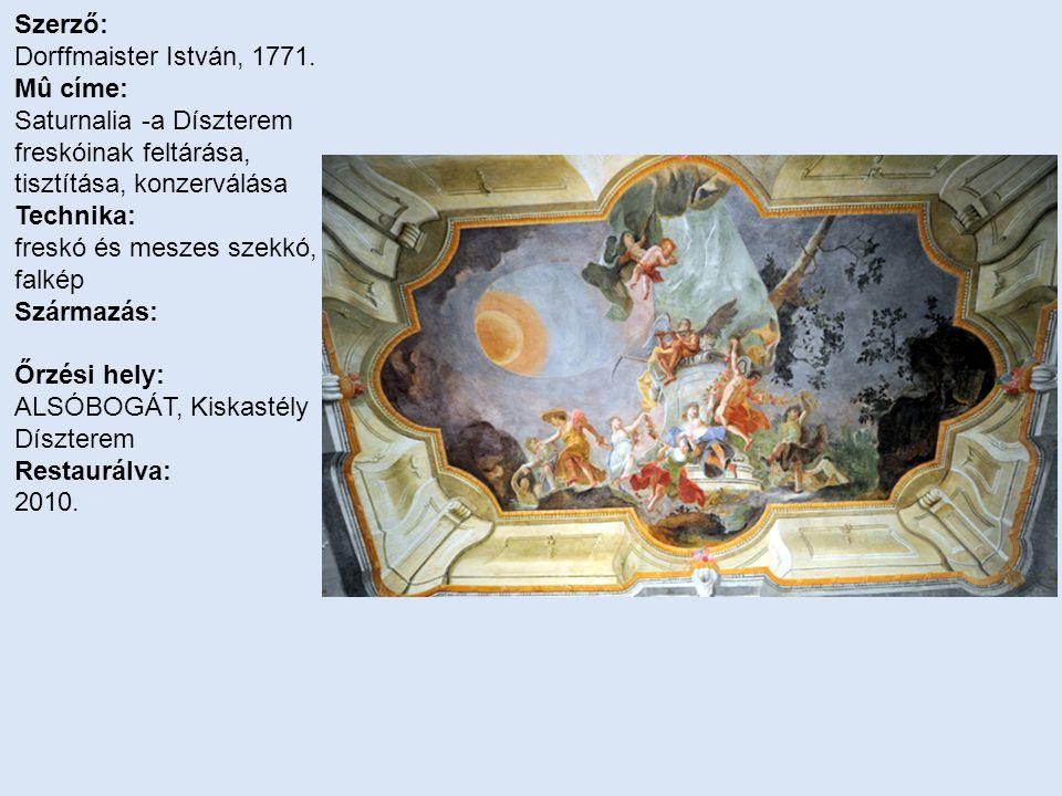 Szerző: Dorffmaister István, 1771.