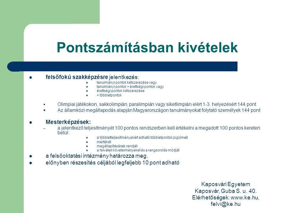 Kaposvári Egyetem Kaposvár, Guba S. u. 40.