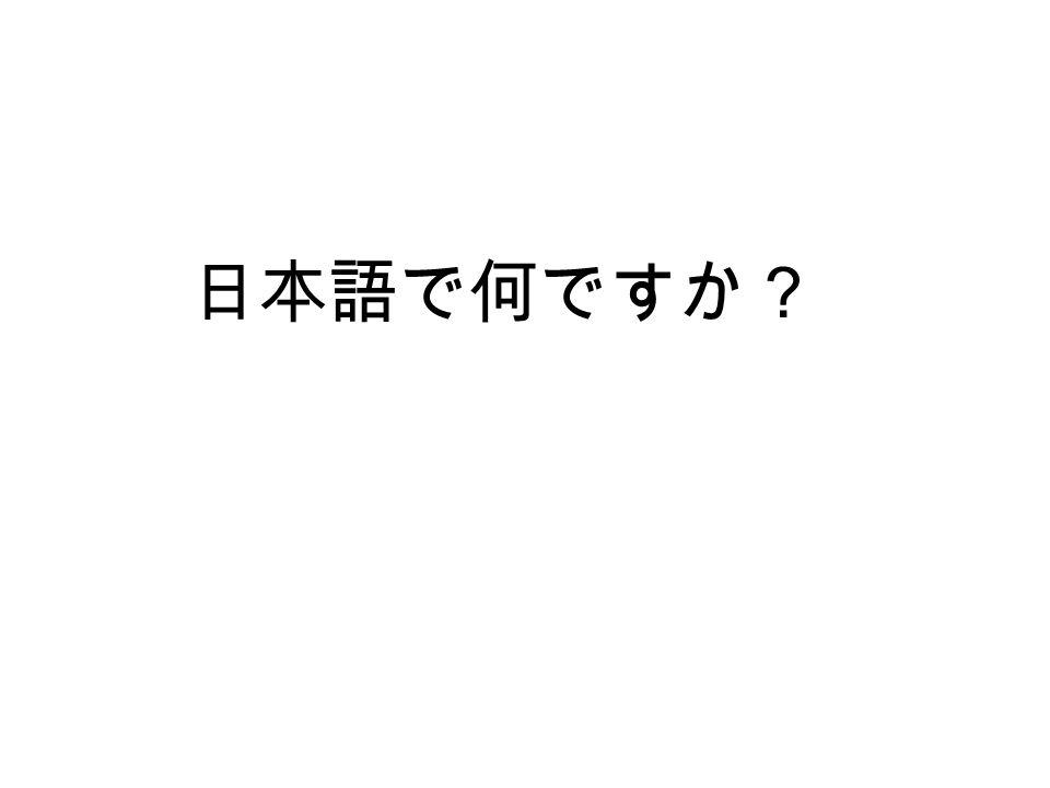 日本語で何ですか?