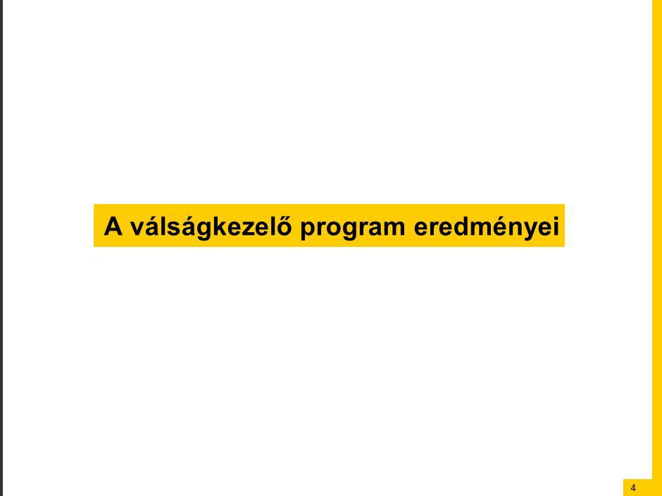 44 A válságkezelő program eredményei