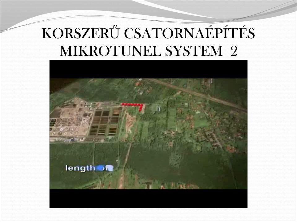 KORSZER Ű CSATORNAÉPÍTÉS MIKROTUNEL SYSTEM 2