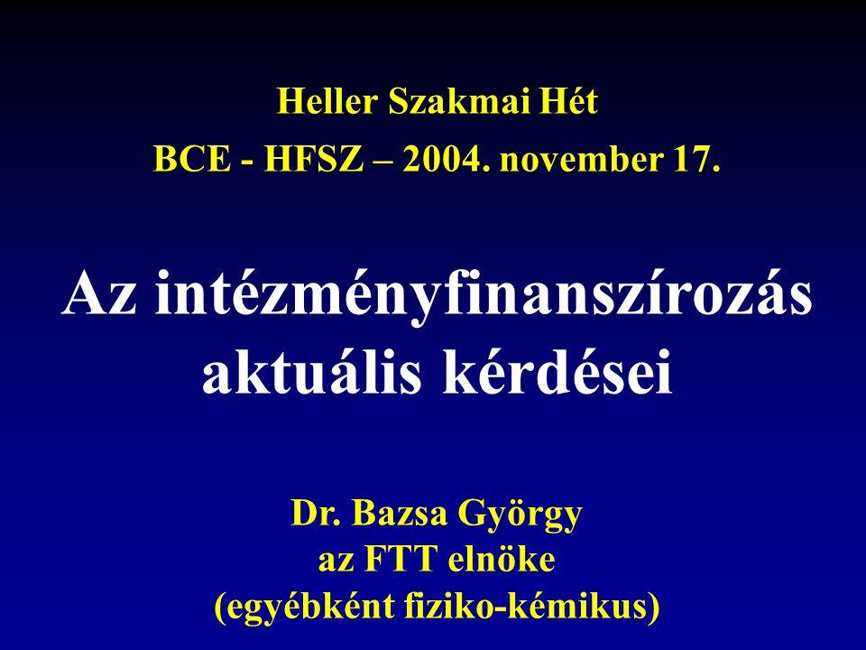Heller Szakmai Hét BCE - HFSZ – 2004. november 17.