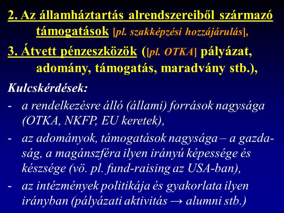 2. Az államháztartás alrendszereiből származó támogatások [pl.