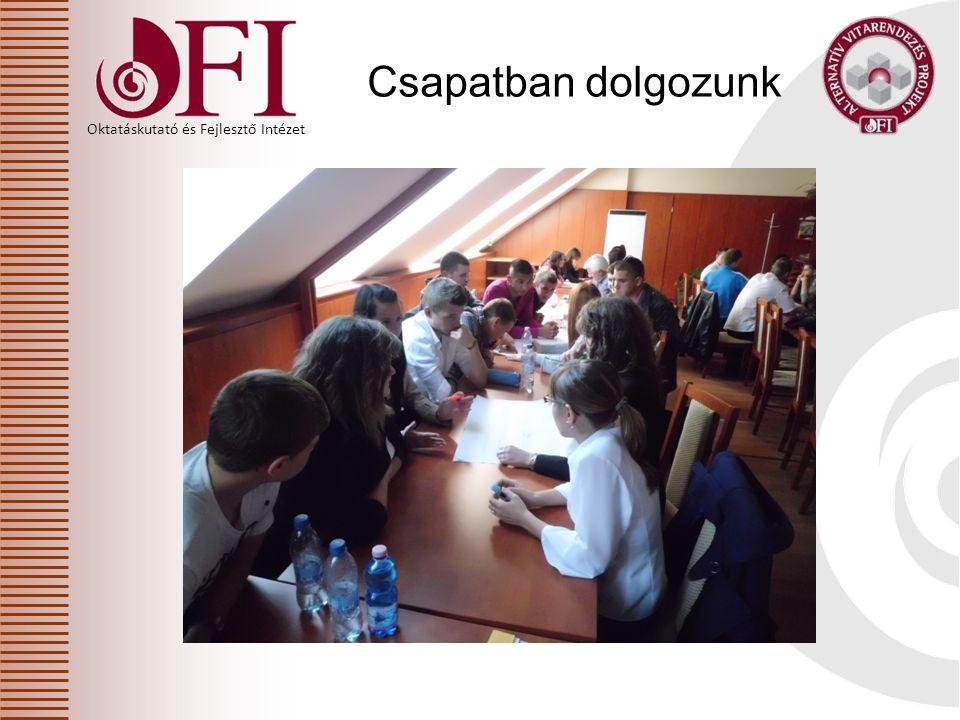 Oktatáskutató és Fejlesztő Intézet Köszönjük a program adta lehetőséget.