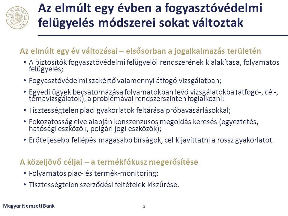 A pénzügyi intézményekhez érkező panaszokban a biztosítási szektor súlya 10% alatti, a darabszám is csökkenő trendben Magyar Nemzeti Bank 4 A pénzügyi intézményekhez érkező panaszok szektoronként