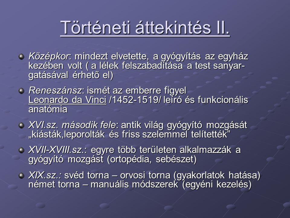 Történeti áttekintés II.