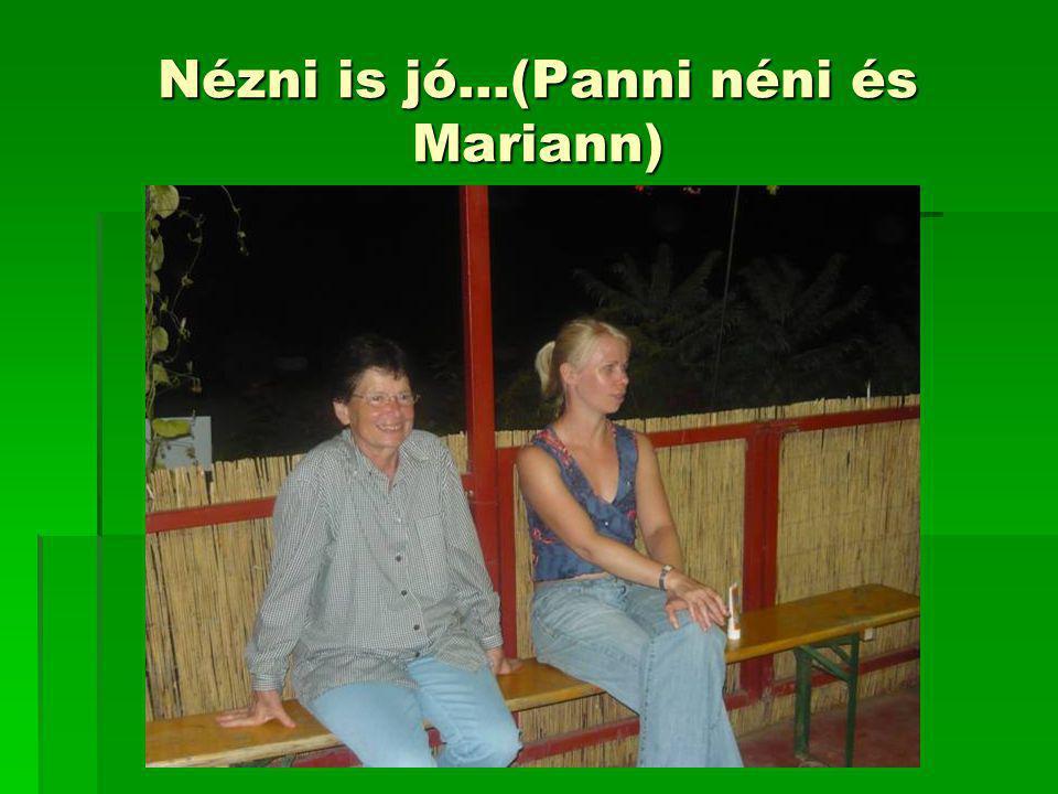 Nézni is jó…(Panni néni és Mariann)