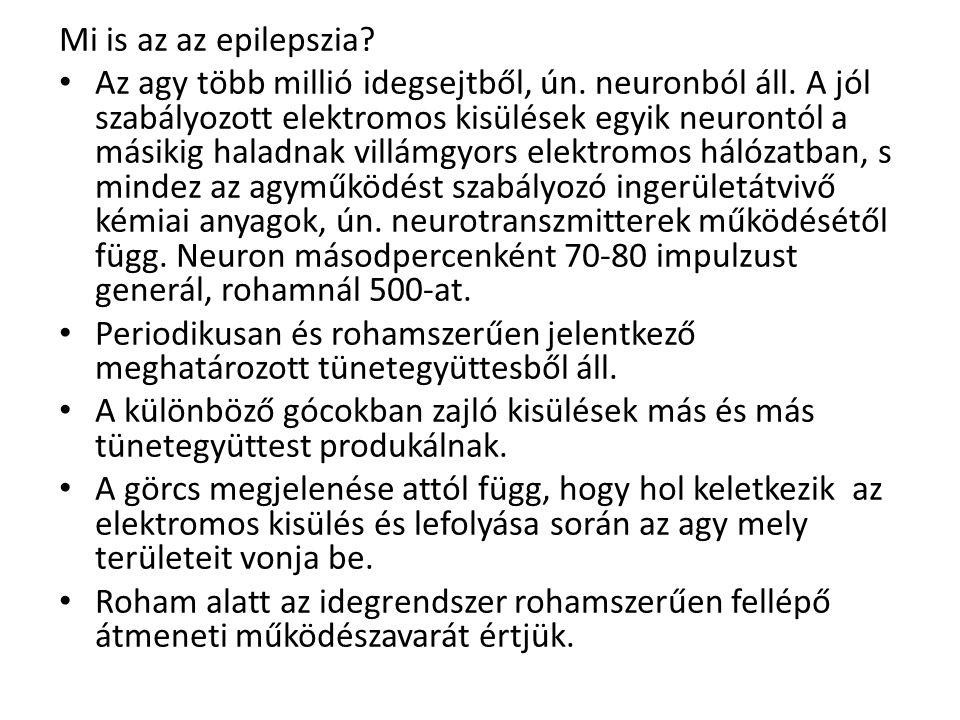 Mi is az az epilepszia.Az agy több millió idegsejtből, ún.