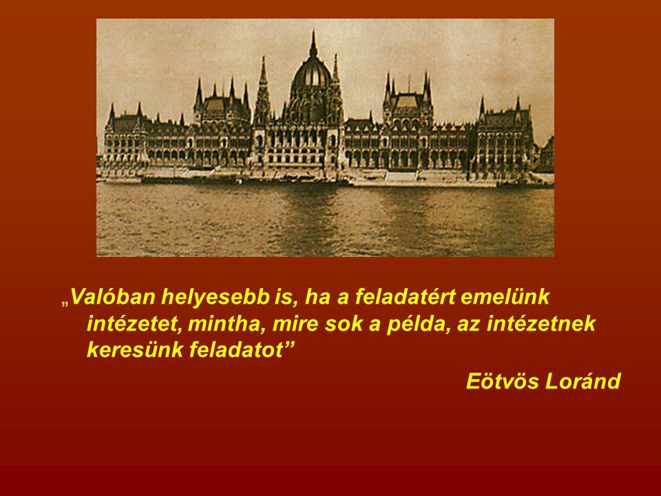 1885: megkezdődik az Országház építése A tervpályázat kiírása 1882.