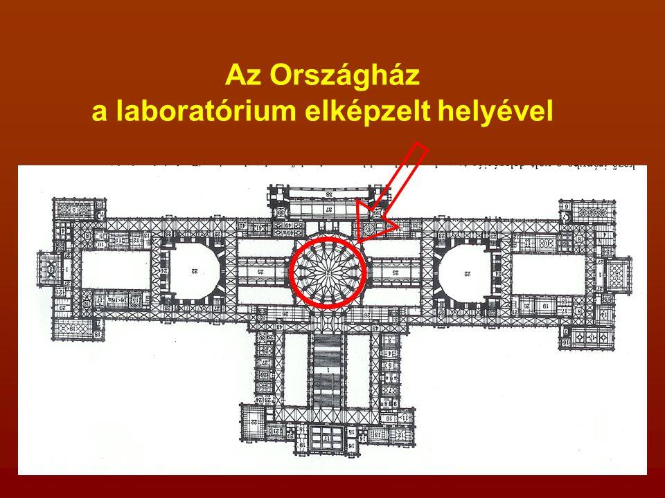 Az Országház a laboratórium elképzelt helyével