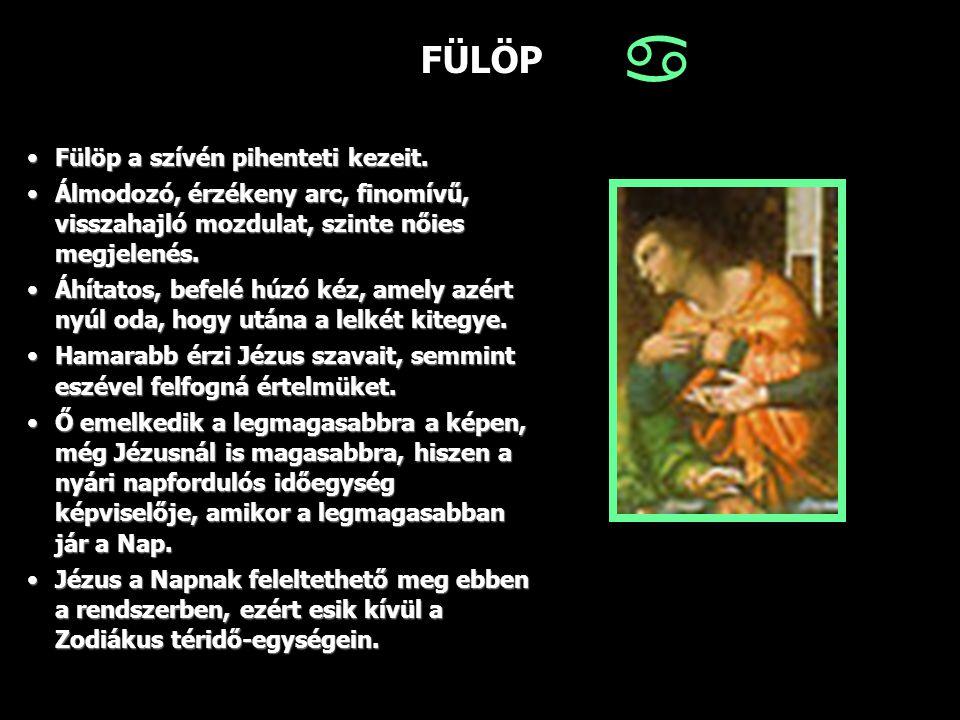 FÜLÖP Fülöp a szívén pihenteti kezeit.Fülöp a szívén pihenteti kezeit. Álmodozó, érzékeny arc, finomívű, visszahajló mozdulat, szinte nőies megjelenés