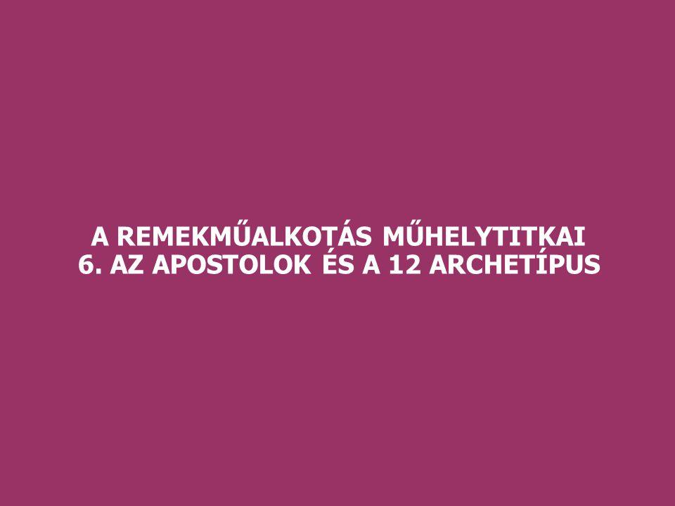 A REMEKMŰALKOTÁS MŰHELYTITKAI 6. AZ APOSTOLOK ÉS A 12 ARCHETÍPUS