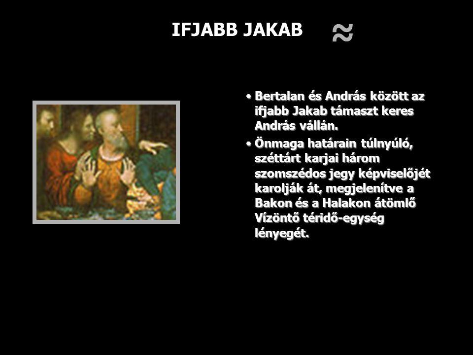 IFJABB JAKAB Bertalan és András között az ifjabb Jakab támaszt keres András vállán.Bertalan és András között az ifjabb Jakab támaszt keres András váll