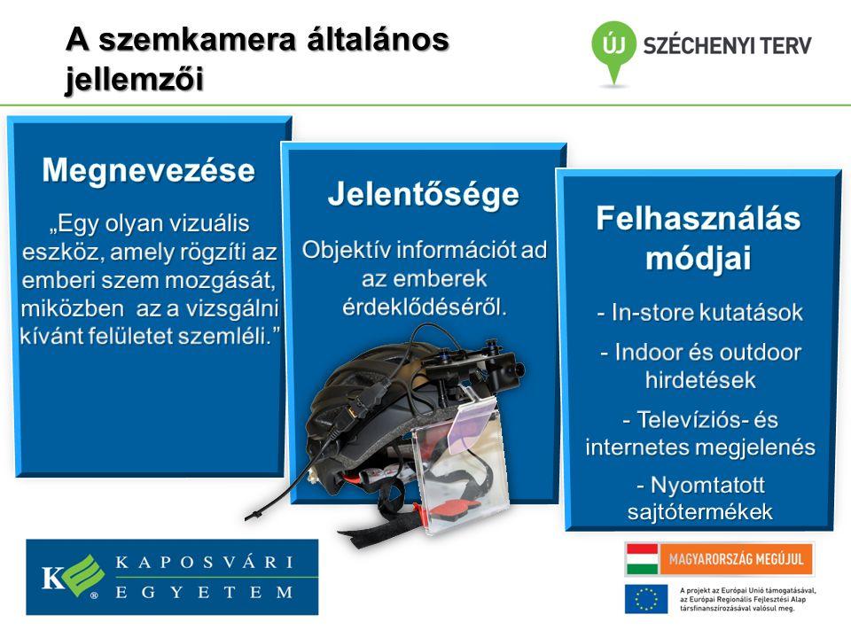 A szemkamera típusai és működése A szem mozgását figyeli A vizsgálandó anyagot figyeli 1 2 3 4 5