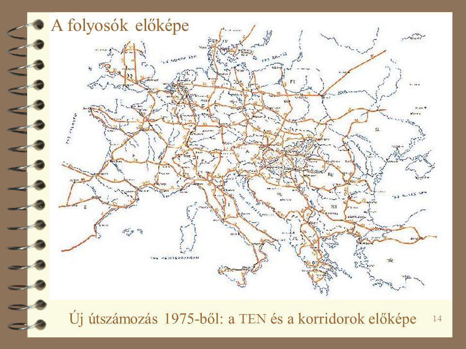 14 Új útszámozás 1975-ből: a TEN és a korridorok előképe A folyosók előképe