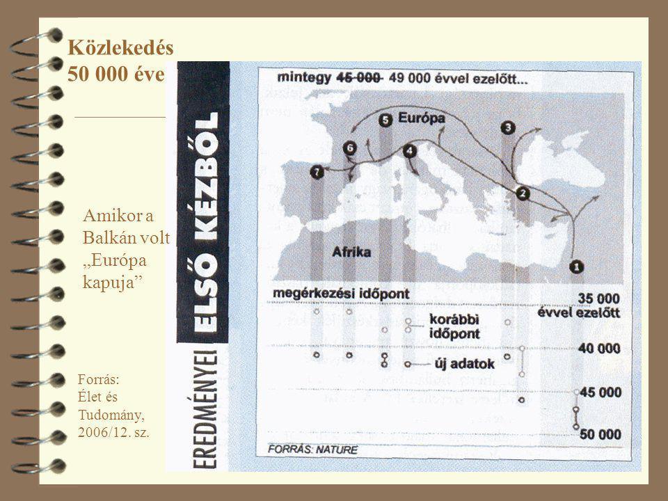 """2 Forrás: Élet és Tudomány, 2006/12. sz. Közlekedés 50 000 éve Amikor a Balkán volt """"Európa kapuja"""""""