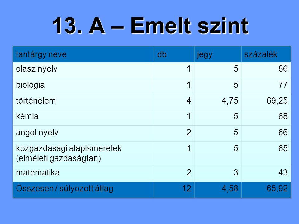 13. A – Emelt szint