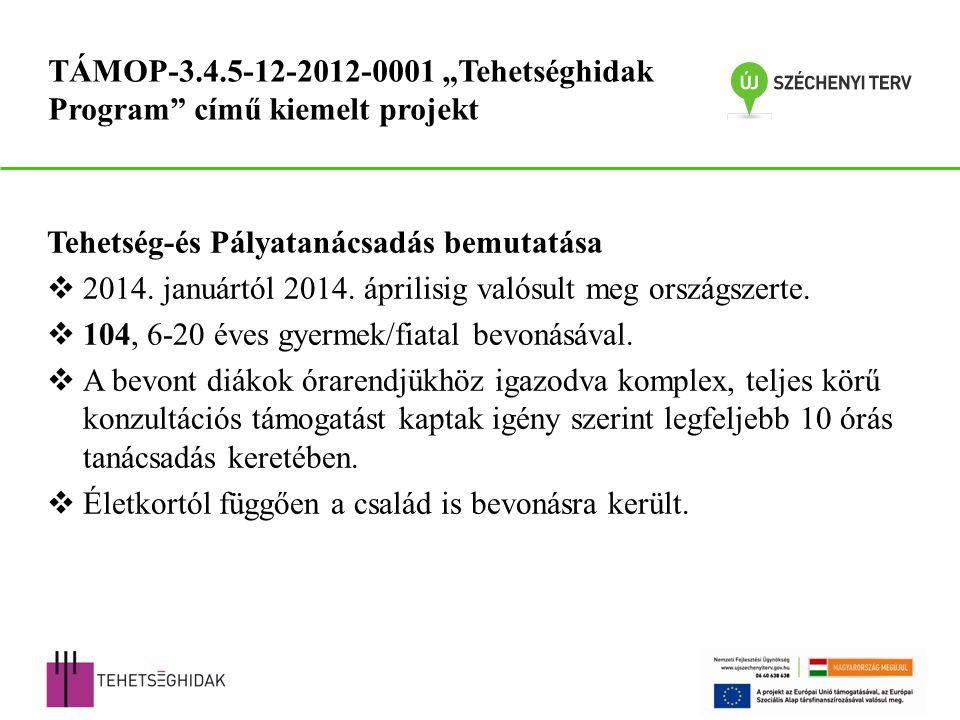 Tehetség-és Pályatanácsadás bemutatása  2014. januártól 2014.