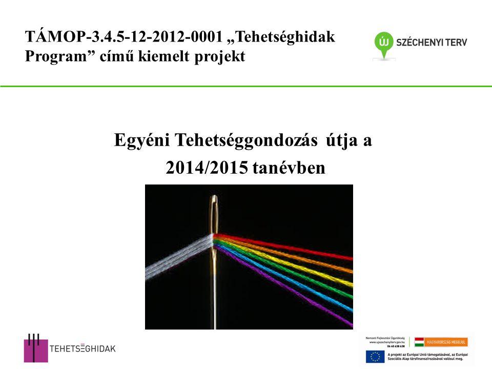 """Egyéni Tehetséggondozás útja a 2014/2015 tanévben TÁMOP-3.4.5-12-2012-0001 """"Tehetséghidak Program című kiemelt projekt"""