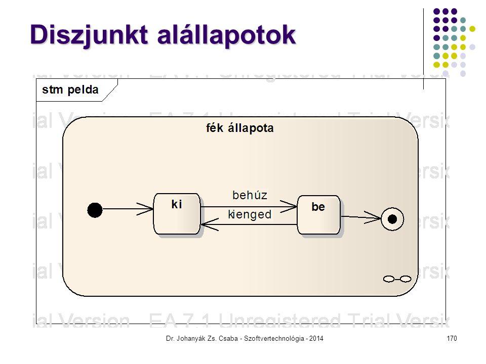 Diszjunkt alállapotok Dr. Johanyák Zs. Csaba - Szoftvertechnológia - 2014170