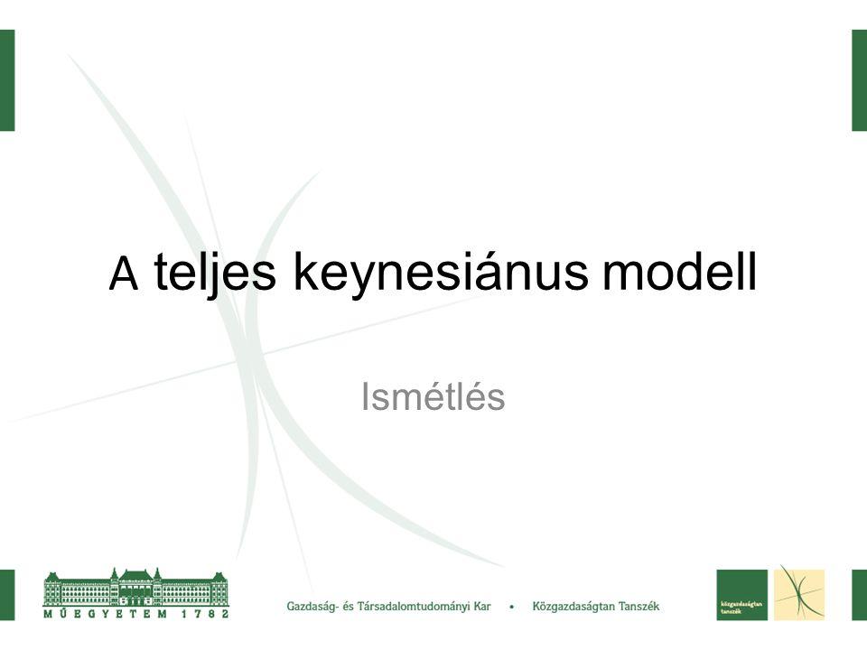 A teljes keynesiánus modell Ismétlés