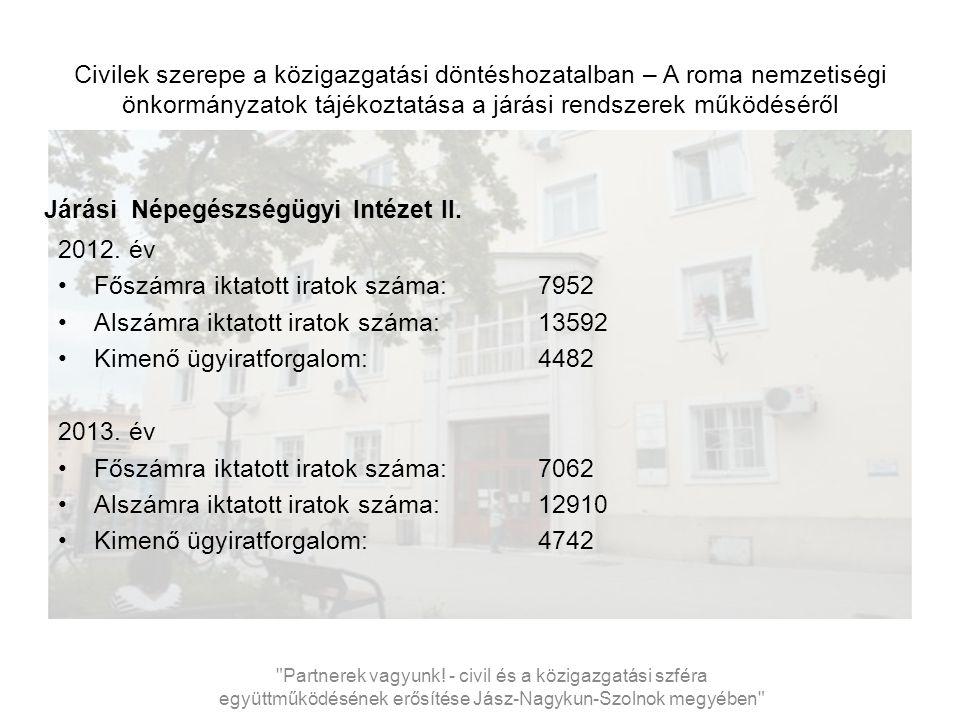 Civilek szerepe a közigazgatási döntéshozatalban – A roma nemzetiségi önkormányzatok tájékoztatása a járási rendszerek működéséről Járási Népegészségügyi Intézet II.
