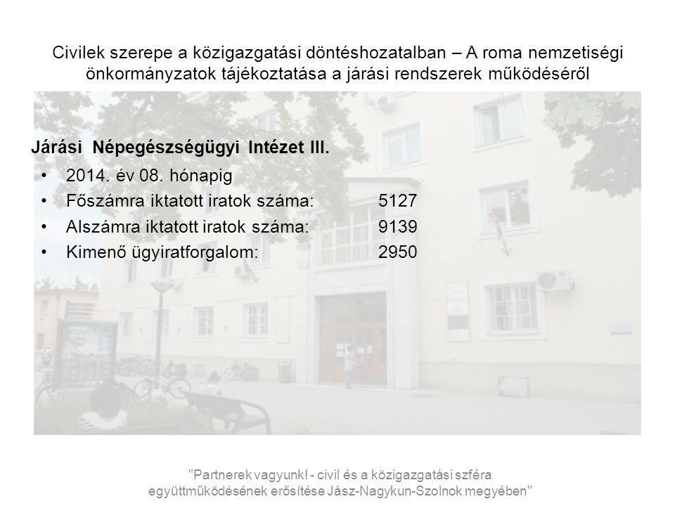 Civilek szerepe a közigazgatási döntéshozatalban – A roma nemzetiségi önkormányzatok tájékoztatása a járási rendszerek működéséről Járási Népegészségügyi Intézet III.