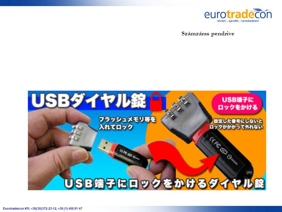 Eurotradecon Kft. +36(30)372-23-12, +36 (1) 456 91 47 Számzáras pendrive