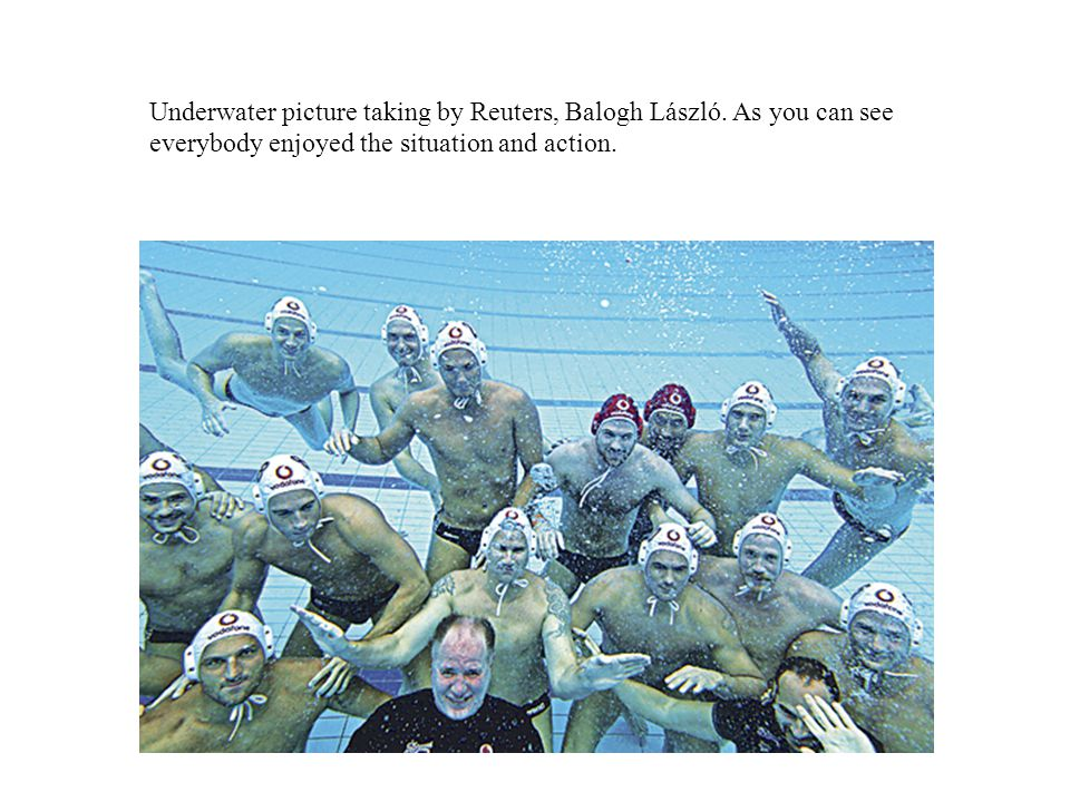 Underwater picture taking by Reuters, Balogh László.