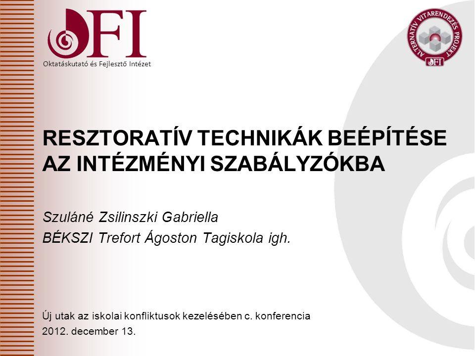 Oktatáskutató és Fejlesztő Intézet Felelős személy 20/2012.