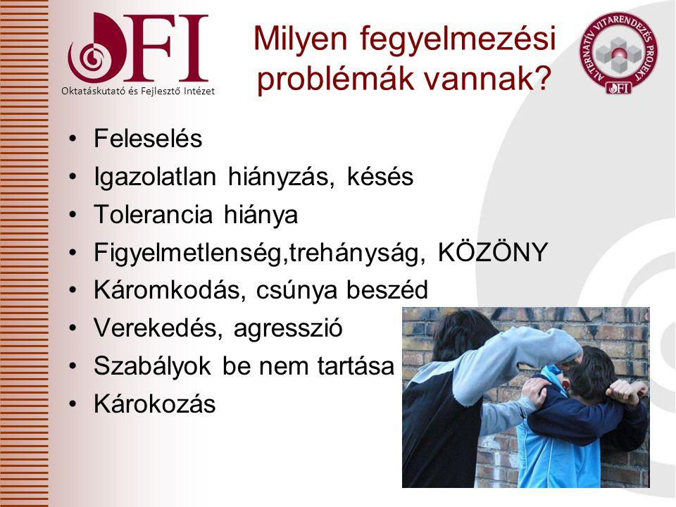 Oktatáskutató és Fejlesztő Intézet és a 20/2012.