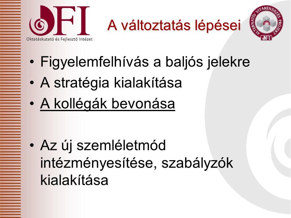 """Oktatáskutató és Fejlesztő Intézet 10 Stop - go alaphelyzet innováció """"lefagyás 20/2012 (VIII31.) EMMI rendelet EMMI rendelet"""