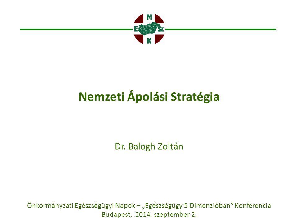 """Nemzeti Ápolási Stratégia Dr. Balogh Zoltán Önkormányzati Egészségügyi Napok – """"Egészségügy 5 Dimenzióban"""" Konferencia Budapest, 2014. szeptember 2."""