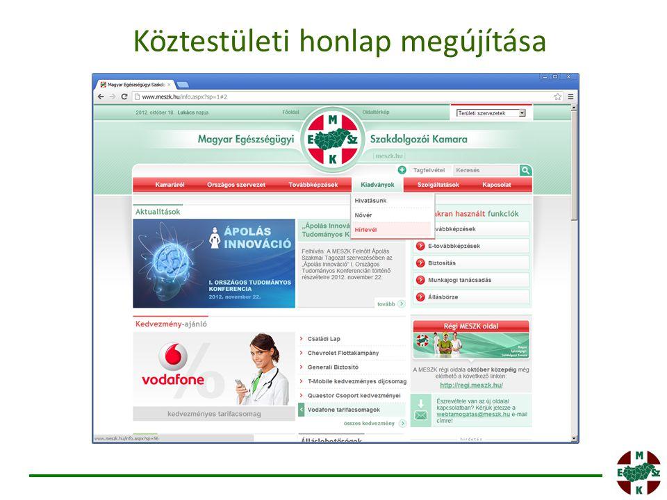 Köztestületi honlap megújítása