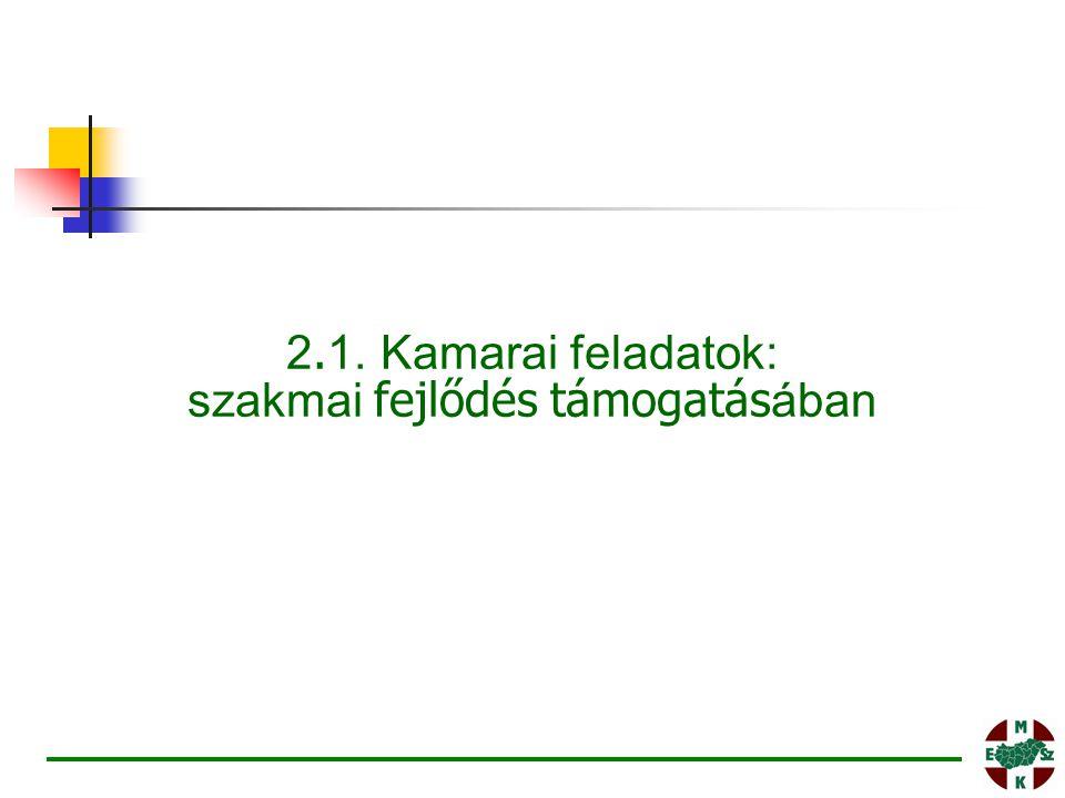 2. 1. Kamarai feladatok: szakmai fejlődés támogatás ában