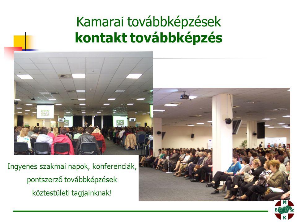 Ingyenes szakmai napok, konferenciák, pontszerző továbbképzések köztestületi tagjainknak! Kamarai továbbképzések kontakt továbbképzés