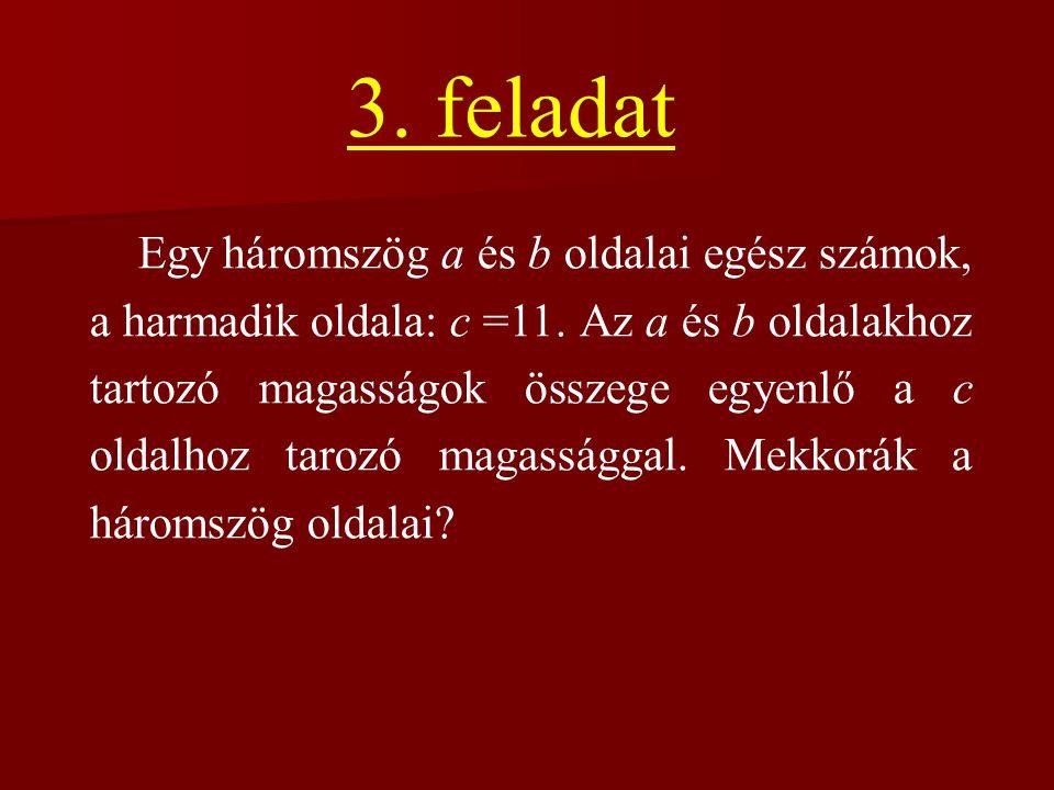 n ….0 ….1 ….2 ….3 ….4 ….5 ….6 ….7 ….8 ….9 n2n2 ….0 ….1 ….4 ….9 ….6 ….5 ….1 2-re, 3-ra, 7-re és 8-ra nem végződhet négyzetszám.