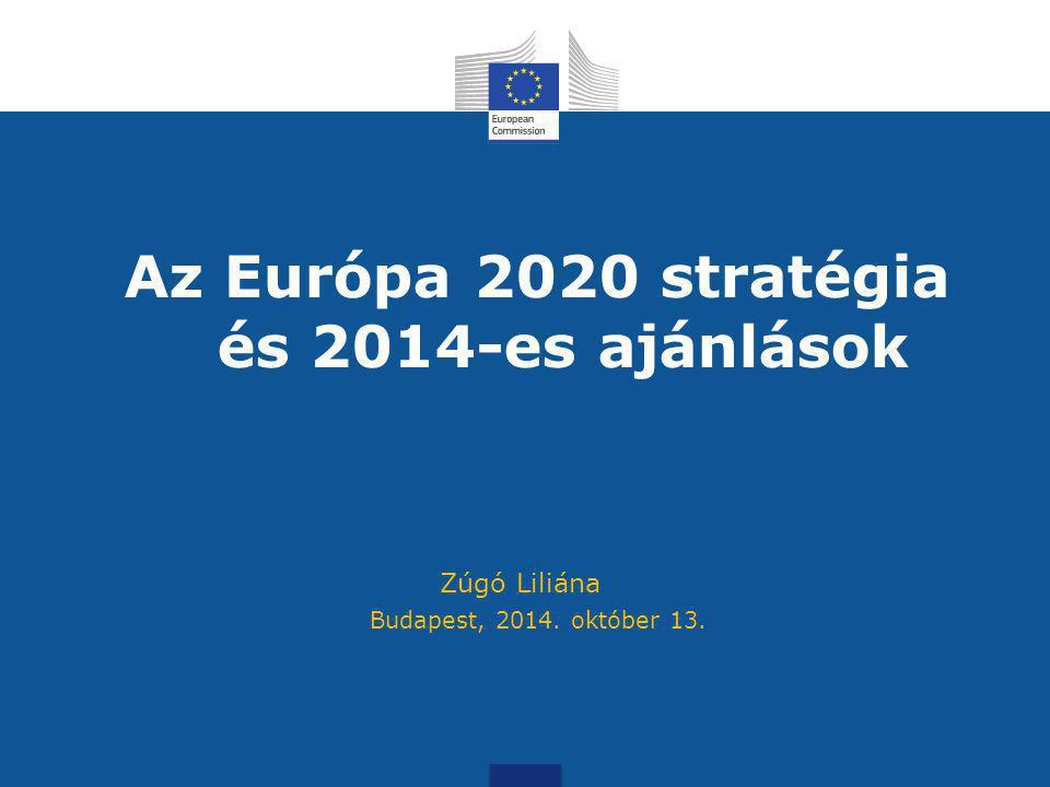 Az Európa 2020 stratégia és 2014-es ajánlások Budapest, 2014. október 13. Zúgó Liliána