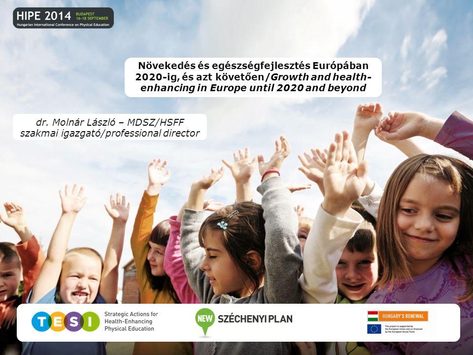 dr. Molnár László – MDSZ/HSFF szakmai igazgató/professional director Növekedés és egészségfejlesztés Európában 2020-ig, és azt követően/Growth and hea