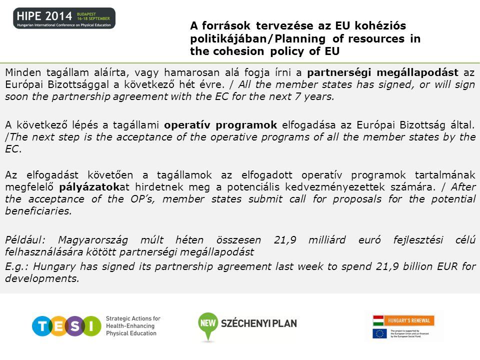 Minden tagállam aláírta, vagy hamarosan alá fogja írni a partnerségi megállapodást az Európai Bizottsággal a következő hét évre. / All the member stat