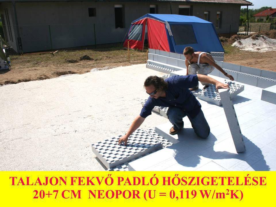 TALAJON FEKVŐ PADLÓ HŐSZIGETELÉSE 20+7 CM NEOPOR (U = 0,119 W/m 2 K)