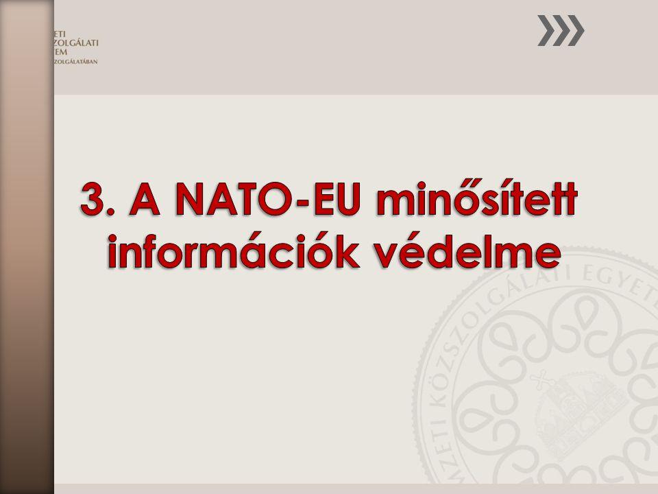 A fejezet az alábbi ismereteket mutatja be: A minősített információk védelméért felelős nemzeti biztonsági szervezetek, és a biztonság alapelvei A személyi biztonság A fizikai biztonság Az adminisztratív biztonság Az elektronikus információvédelem