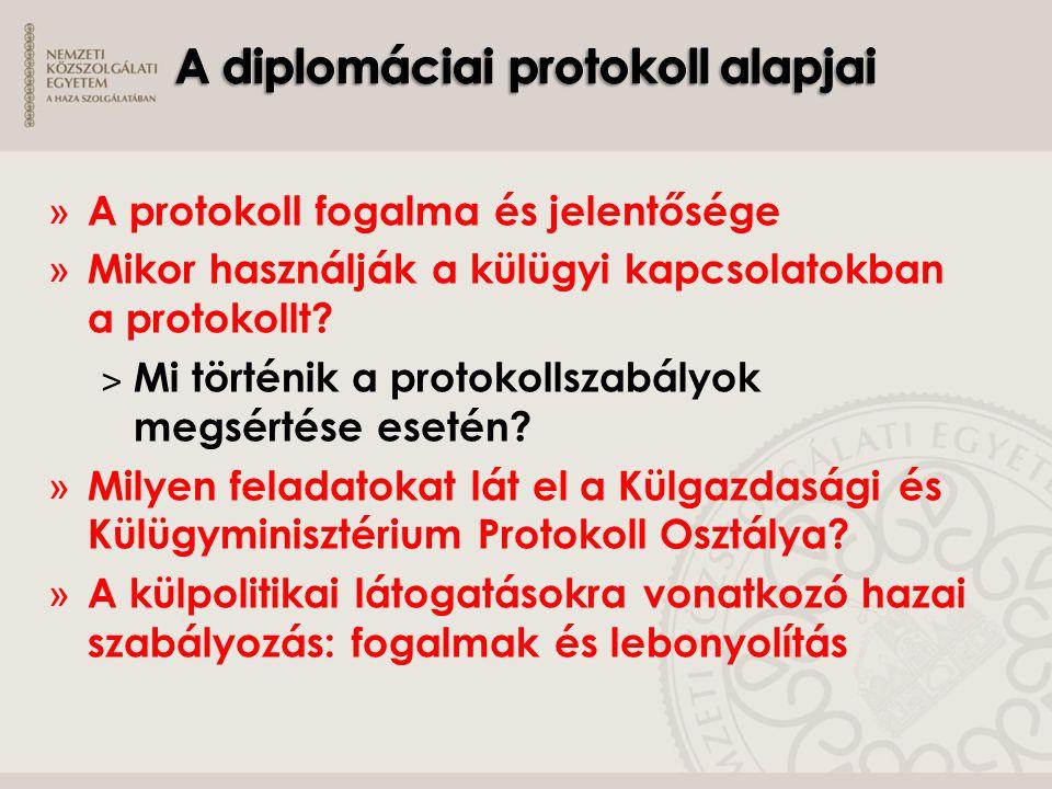 » A protokoll fogalma és jelentősége » Mikor használják a külügyi kapcsolatokban a protokollt? ˃ Mi történik a protokollszabályok megsértése esetén? »