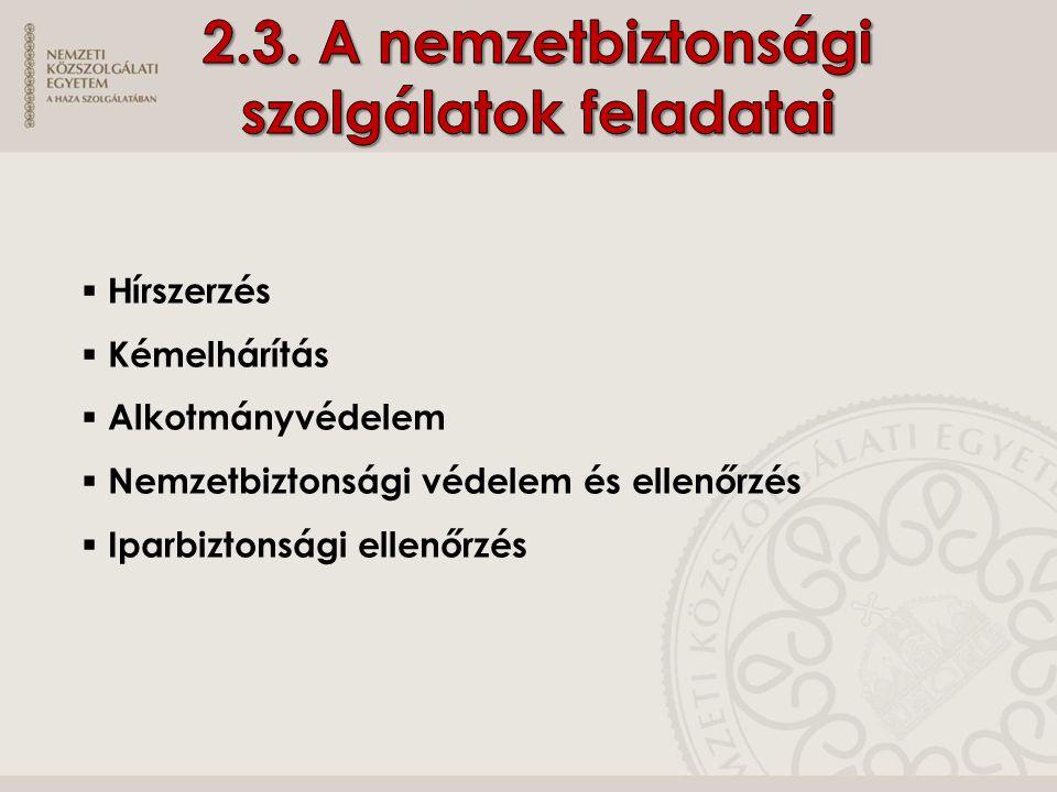  Irányítás- Kormány  belügyminiszter  honvédelmi miniszter  miniszterelnökséget vezető miniszter  Vezetés -főigazgatók